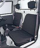 BONFORM ( ボンフォーム ) シートカバー ドライビングシート 軽トラック用 前席2枚セット ブラック 2140-32BK