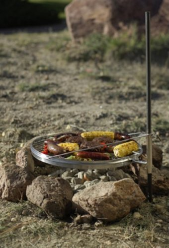 Campfire Pit Grill - Open Fire Swivel Camping