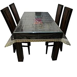 Kuber Industriestm Transparent Dining Table Cover 6 Seater