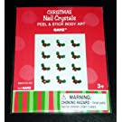 Ganz Crystal Christmas Holly Nail Stickers, 12/pkg.