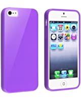 JKase (TM) TPU Rubber Skin Case Compatible with Apple® iPhone® 5 / 5S (Purple)