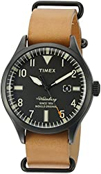 Timex Men's 'The Waterbury' Quartz Stainless Steel and Leather Casual Watch, Color:Brown (Model: TW2P64700ZA)