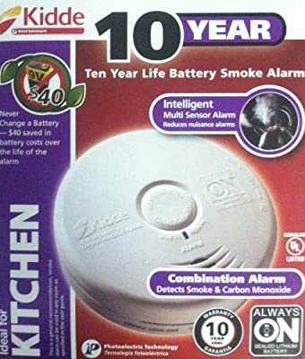 Battery-Operated Combination Carbon Monoxide and Smoke Alarm with Photoelectric Sensor from KIDDE