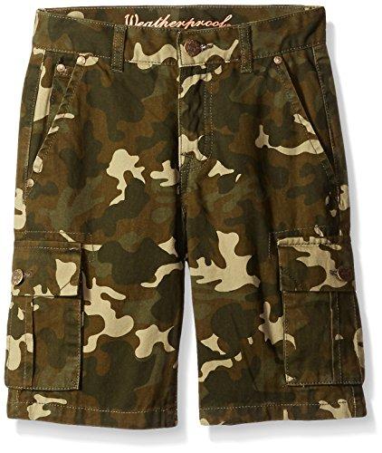 Weatherproof Big Boys Cotton Twill Cargo Short, Camo, 12 Cotton Camouflage Shorts