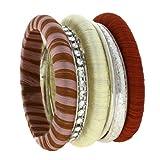 Indian Pink Bracelet Bangle Fashion Jewelry Enamel (MN-bangle_set_G8)