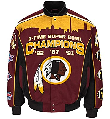 Washington Redskins NFL G-III Super Bowl Commemorative Premium Twill Jacket