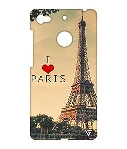 Vogueshell I Love Paris Printed Symmetry PRO Series Hard Back Case for LeEco Le 1s