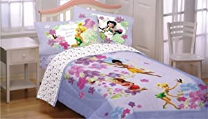 Disney Fairies Twin Bedding Set Magic Art Comforter Sheets