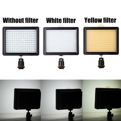 Andoer® 160 LED lampada di pannello 12W 1280LM dimmerabile per Canon Nikon...