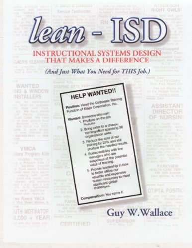 lean-ISD: Instructional Systems Design That Makes A Difference
