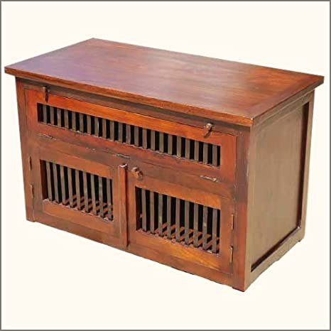 Santa Cruz Mission TV Stand Console w Storage Cabinet