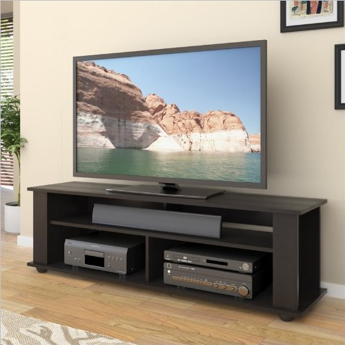 Corliving Tbf-605-B Bakersfield Ravenwood Tv/Component Stand, Black