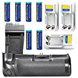 Neewer® BG-E8 Replacement Battery Grip with 6 Pack of Rechargeable AA Battery and 3 Battery Chargers for Canon EOS 550D 600D 650D 700D/ Rebel T2i T3i T4i T5i SLR Cameras