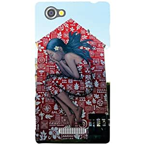 Sony Xperia M Back Cover - Crying Away Designer Cases