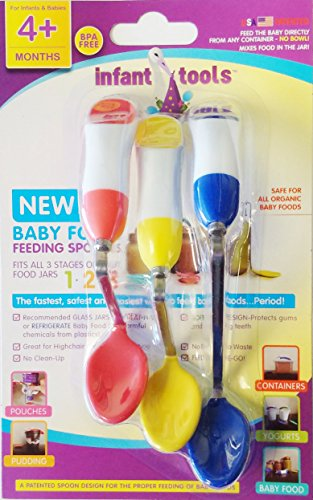 "Premium ""No Bowl, No Mess"" Sanitary Baby Food Feeding Spoons * Feed On-the-Go * No BPA/Non-Toxic - 1"