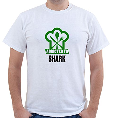 ADDICTED TO SHARK Food Drink Vegetable Unisex Short Sleeve T Shirt
