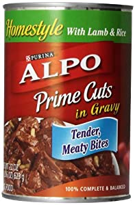 Purina Alpo Prime Cuts Lamb Rice Canned Dog Food, 22-Ounce (Pack of 12)