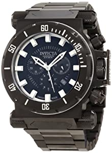 Invicta Men's 10033 Coalition Forces Chronograph Black Dial Watch