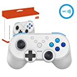BRIGHTSHOW Switch Wireless Mini Pro Controller +NFC with Amiibo Function & Motion Controls Dual Vibration Super Smash Bros Ultimate Control (Color: Wireless Controller +NFC)
