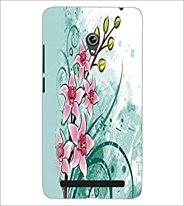PrintDhaba Flowers D-2353 Back Case Cover for ASUS ZENFONE 6 A601CG (Multi-Coloured)