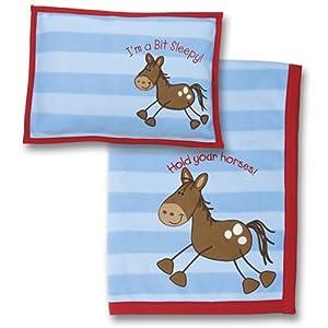 Stephen Joseph Fleece Blanket and Pillow Sets Horse