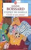 echange, troc Boissard - L'Esprit de famille, tome 6 : Cécile et son amour