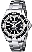 Breitling Men's A1736402/BA29SS Superocean Abyss Black Dial and Stainless Steel Bracelet from BRIT ARCH OF COUNTRY
