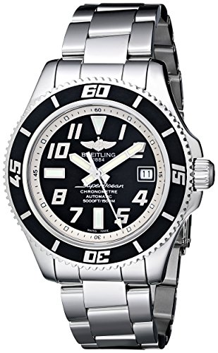 Breitling Men's A1736402/BA29SS Superocean Abyss Black Dial and Stainless Steel Bracelet