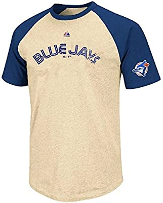 Toronto Blue Jays Cooperstown All Star Raglan Mens T Shirt Big & Tall Sizes