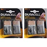 Duracell Alkaline Battery 9v2 Pack Of 2 (4 Cell)