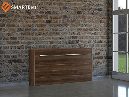 Armario cama Smart Horizontal cama 90x 200cm Horizontal Wallis con colchón