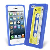 Celicious Blue Retro Cassette Tape Silicone Skin Case for Apple iPhone 5s / iPhone 5 Apple iPhone 5s Case Cover