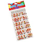 Dozen Christmas Santa Clause Design Wooden #2 Pencils - 7.5""