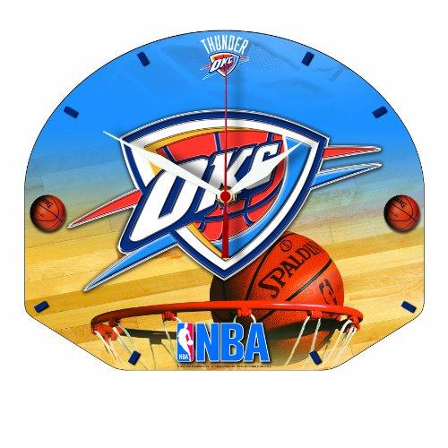 NBA Oklahoma City Thunder High Definition Clock - Backboard Shaped