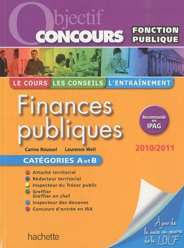 Finances publiques Catégories A et B : Fonction publique