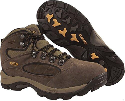 Men's Hi - Tec Coronado Waterproof Hiking Boots Smokey Brown / Gold