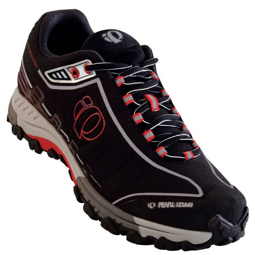 Pearl iZUMi Men's X-Alp Seek IV WRX Water Resistant Trail Shoe,Black / Silver,41 EU (US Men's 7.5 M)