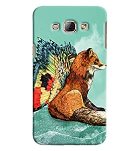 Blue Throat Wolf With Wings Printed Designer Back Cover For Samsung Galaxy A8