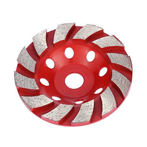 "KKmoon 100mm 4"" Diamond Segment Grinding Wheel Disc Bowl Shape Grinder Cup Concrete Granite Masonry Stone Ceramics Terrazzo Marble for Building Industry"