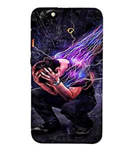 EPICCASE Pressure power Mobile Back Case Cover For Huawei Honor 4X (Designer Case)