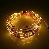ニュークリアス LED ジュエリーライト ( イエロー ) 黄色 電池式 5m50球 イルミネーション 飾り 電飾 クリスマス ジュエリー50球 (イエロー)