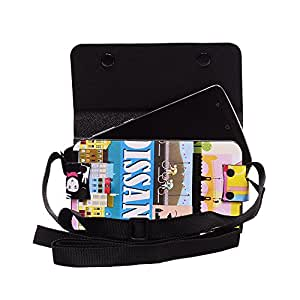Colorkart Printed Mobile Pouch Handbag With Adjustable Strip For InFocus M808i Mobile Phone