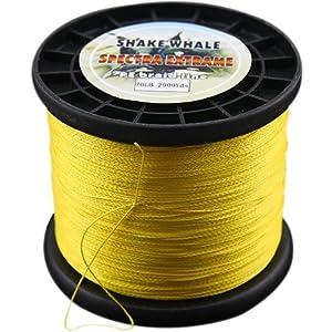 Shake Whale 100-Percent PE Good Quality Briad Braided Fishing Line Yellow 70LB... by Shake Whale