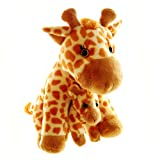 ZSL - Mother & Baby Giraffe Soft Toy