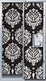 Locker Lookz 2012 Collection! Lockerlookz Fashion Wallpaper (Black/White Damask)