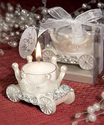 Carriage Wedding Favor Candle Holders, 18