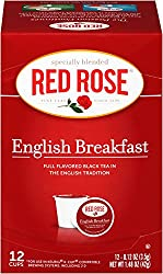 Red Rose English Breakfast 12ct Single-Serve Cups Case of 6 boxes by Redco Foods