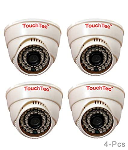 TouchTec-800TVL-36LED-3.6mm-Lens-(4Pcs)-Dome-IR-Camera