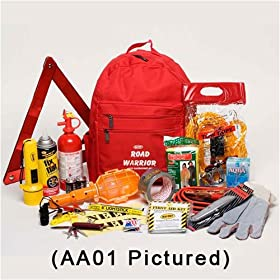 Road Warrior Urban (21 Piece) Automotive Emergency Survival 72 Hour Kit - For Cars & Trucks
