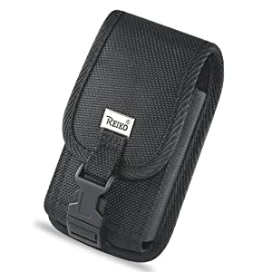 PLUS SIZE Rugged Heavy Duty Nylon Canvas Protective Cell Phone Case Pouch (With Metal Belt Clip) for HTC Evo 4G / HTC Inspire / HD2